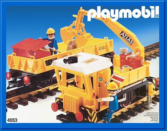 Playmobil set 4053v1 work train klickypedia - Train playmobil ...