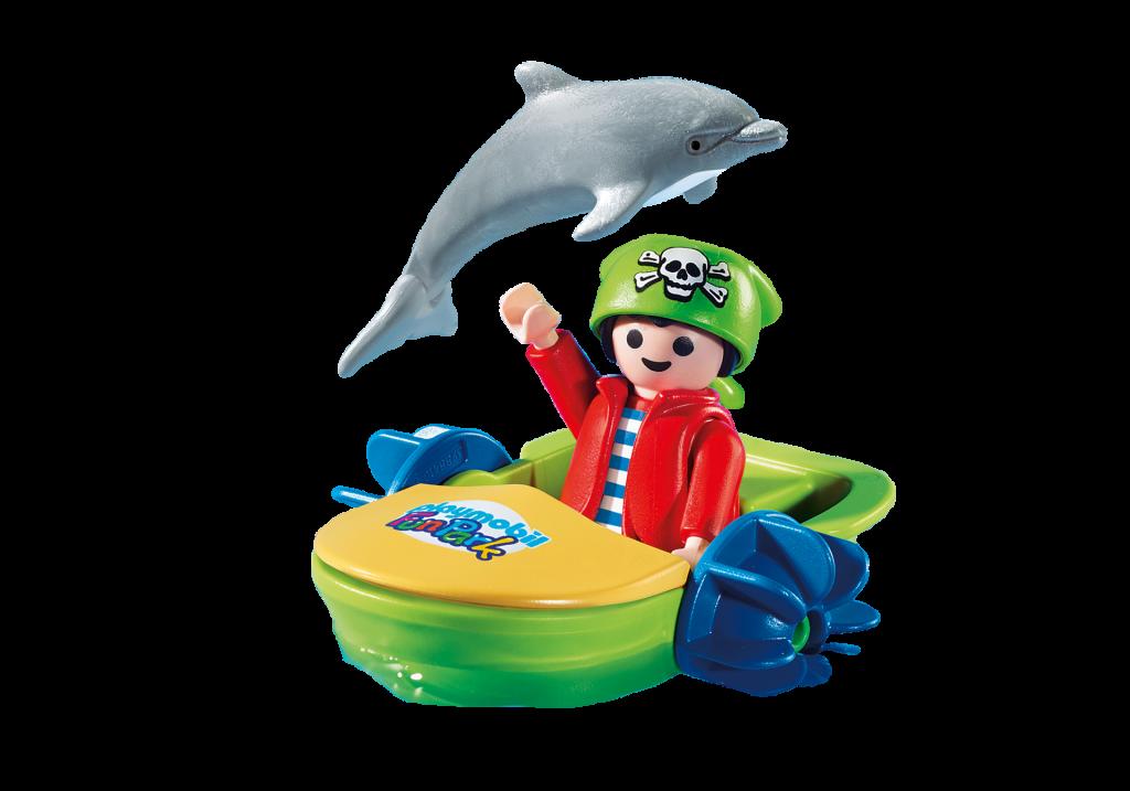 """Playmobil 9412-ger - Charity Figure for """"Ein Herz für Kinder"""" - Back"""