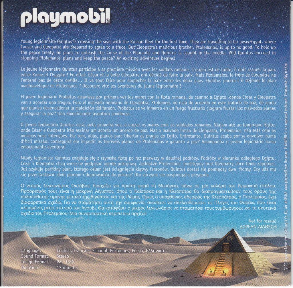 Playmobil 85163 - DVD Romans - Back