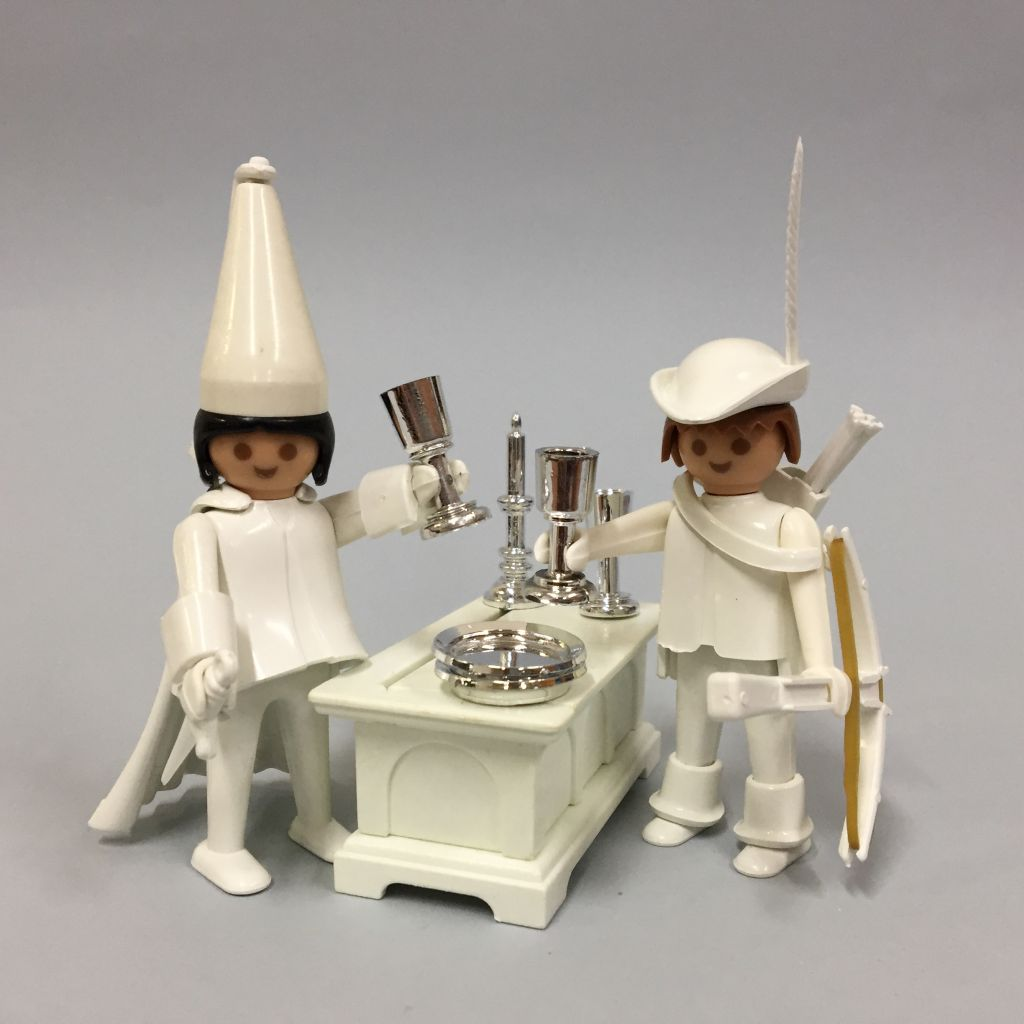 Playmobil 3663-fam - Archer & Courtesan - Back