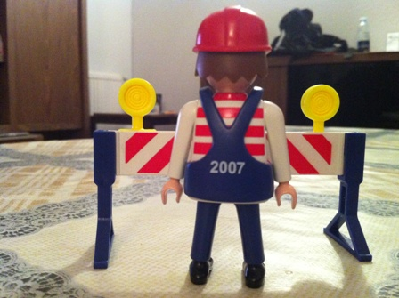 Playmobil 0000-ger - Maitenance Employee (U6, 2007) - Back
