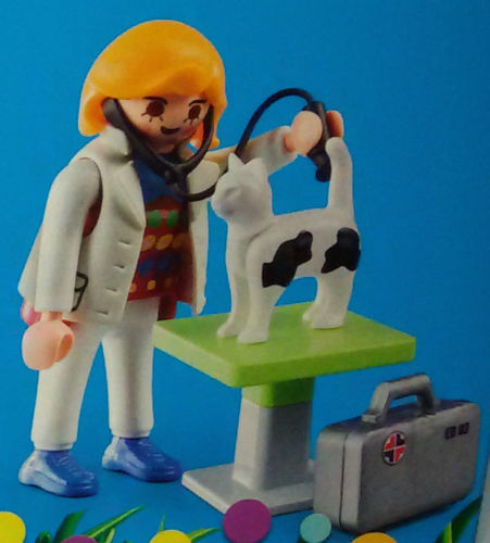 Playmobil 9292 - doctor with cat - Box