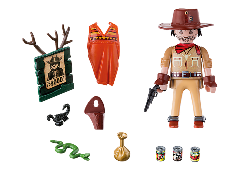 Playmobil 9083 - Cowboy with Wanted Poster - Back