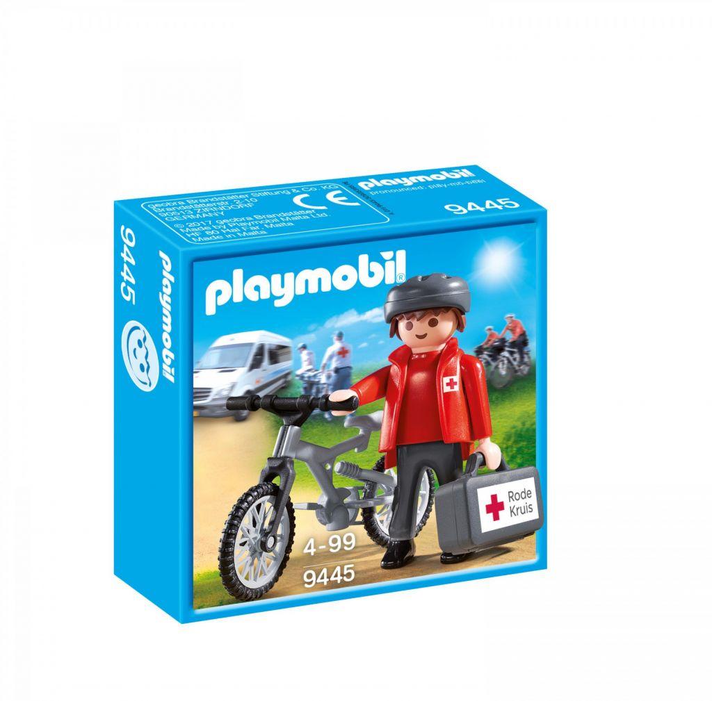 Playmobil 9445-net - Rode Kruis-biker Ehbo Evenementen - Box