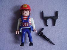 Playmobil - 0000-ger - Maitenance Employee (U55, 2004)- Pneumatic hammer