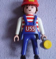 Playmobil - 0000-ger - Employé de maintenance BVG (U55, 2004 ) la lumiere