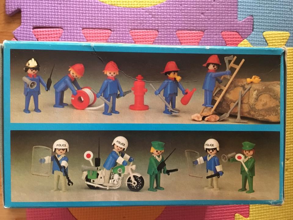 Playmobil 3232 + 3234-fra - Policemen + Firemen France loisirs - Box