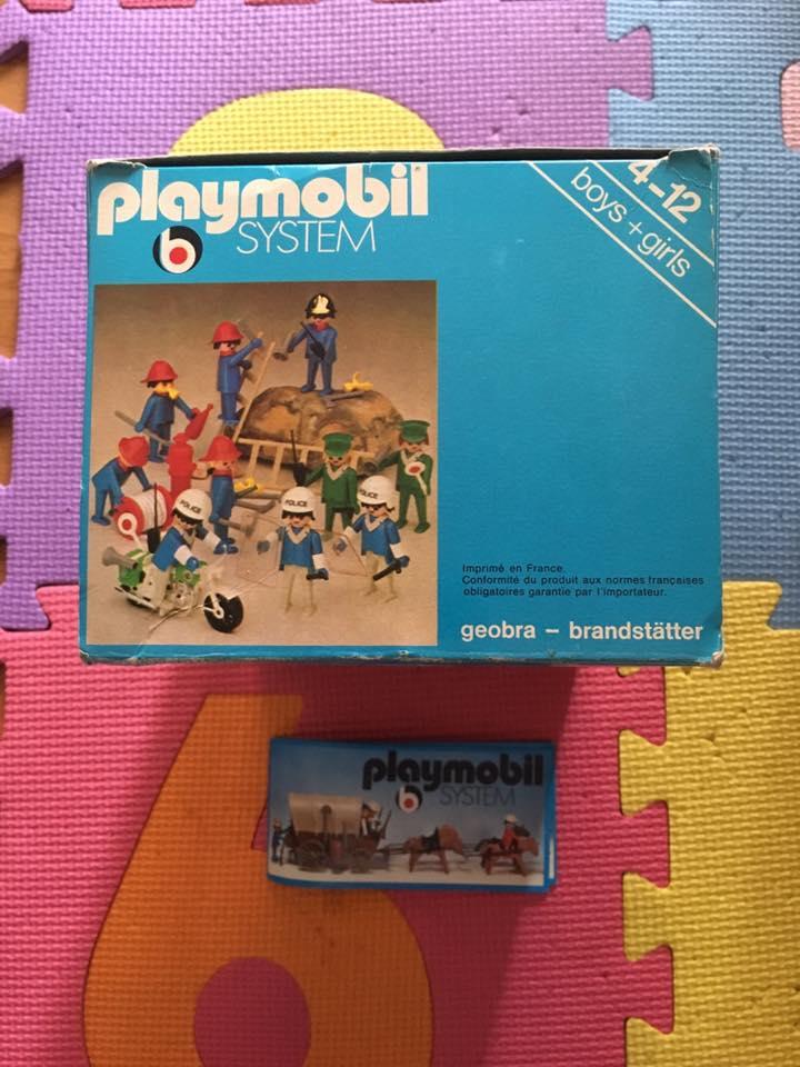 Playmobil 3232 + 3234-fra - Policemen + Firemen France loisirs - Back