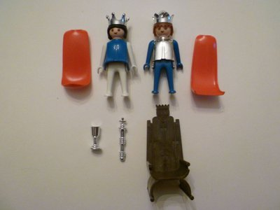 Playmobil 3171s1 - King and Queen - Back