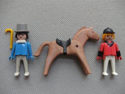 Playmobil 3174 - Rider and Gentleman - Back