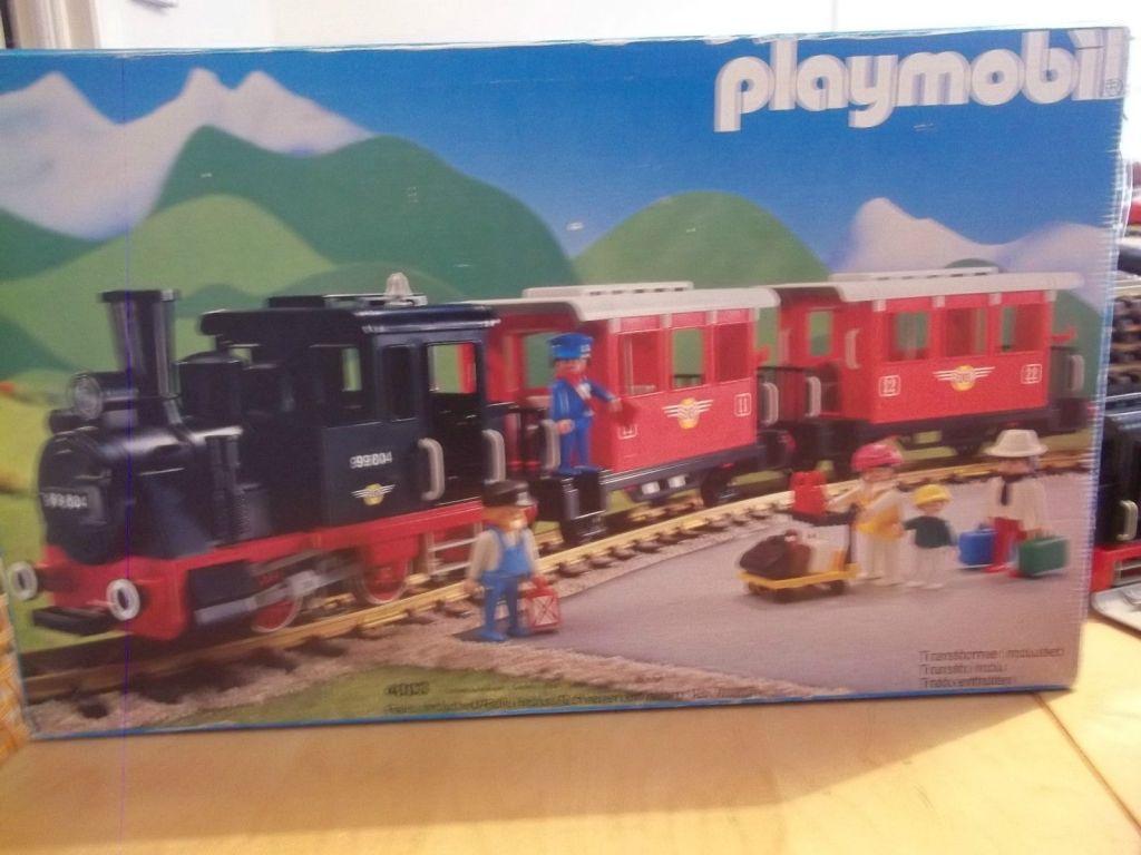 Playmobil set 4003 ukp passenger train with steam - Train playmobil ...