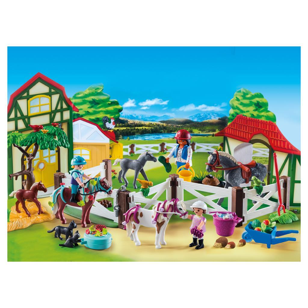 playmobil set 9262 advent calendar riding stable. Black Bedroom Furniture Sets. Home Design Ideas
