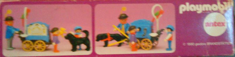 Playmobil 5550-ant - Organ Grinder With Children - Back