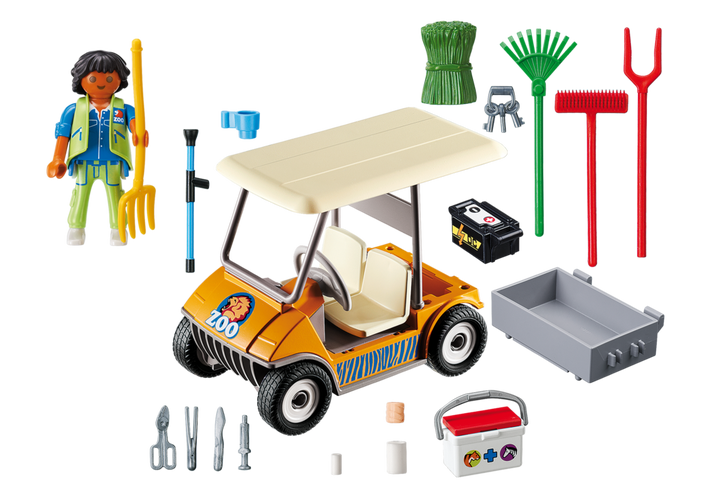 Playmobil 6636 - Zookeeper's Cart - Back