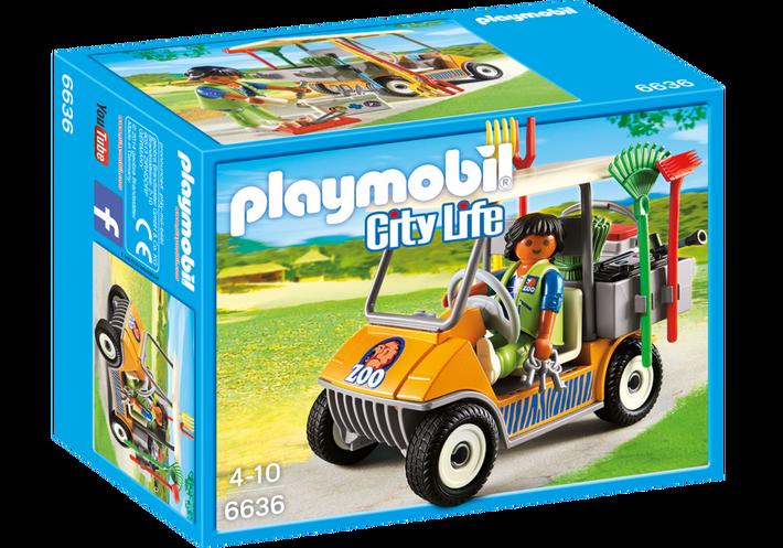 Playmobil 6636 - Zookeeper's Cart - Box