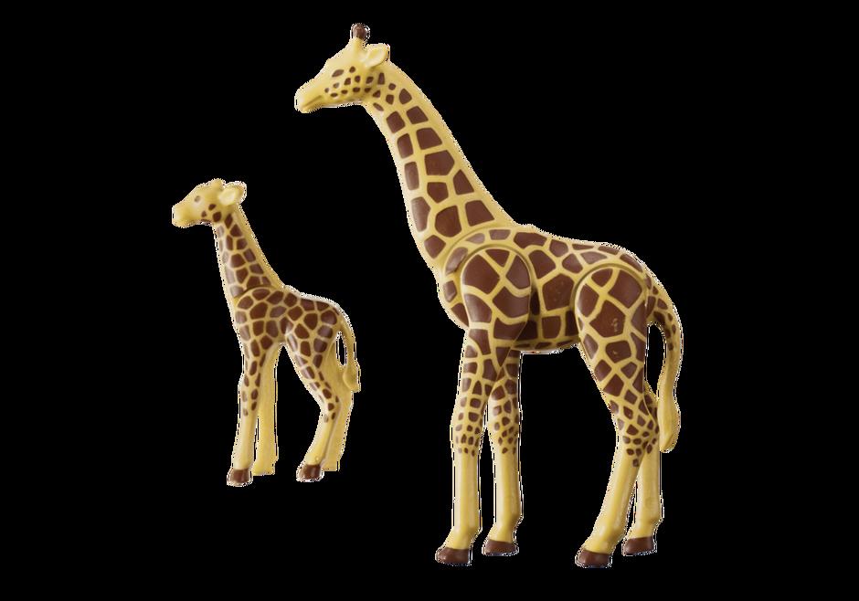 Playmobil 6640 - Giraffe with baby - Back