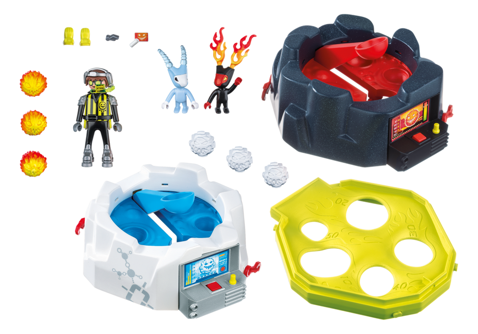 Playmobil 6831 - Fire and ice action game - Back