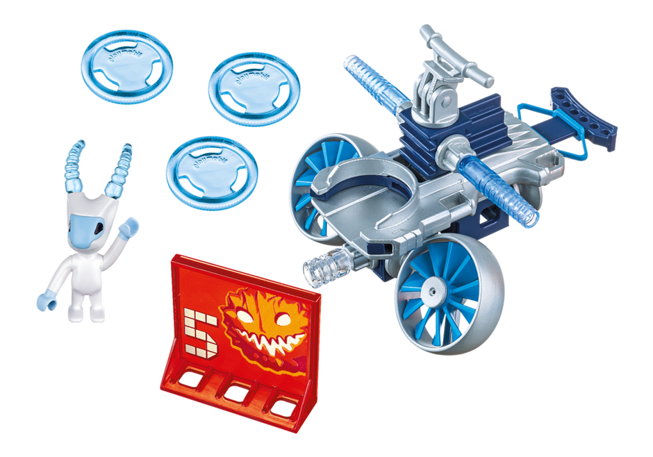 Playmobil 6832 - Ice alien with spacecraft - Back