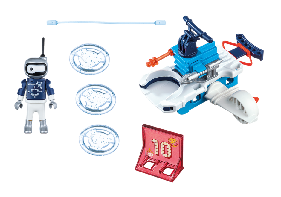 Playmobil 6833 - ice android with spacecraft - Back