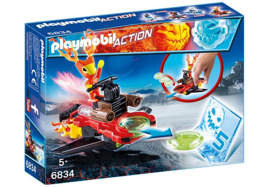 Playmobil 6834 - Fire alien with spacecraft - Box