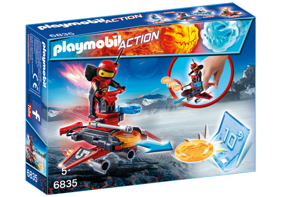Playmobil 6835 - Fire android with spacecraft - Box