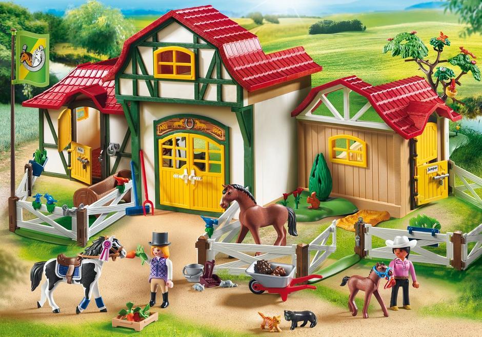 playmobil set 6926 large horse farm klickypedia. Black Bedroom Furniture Sets. Home Design Ideas