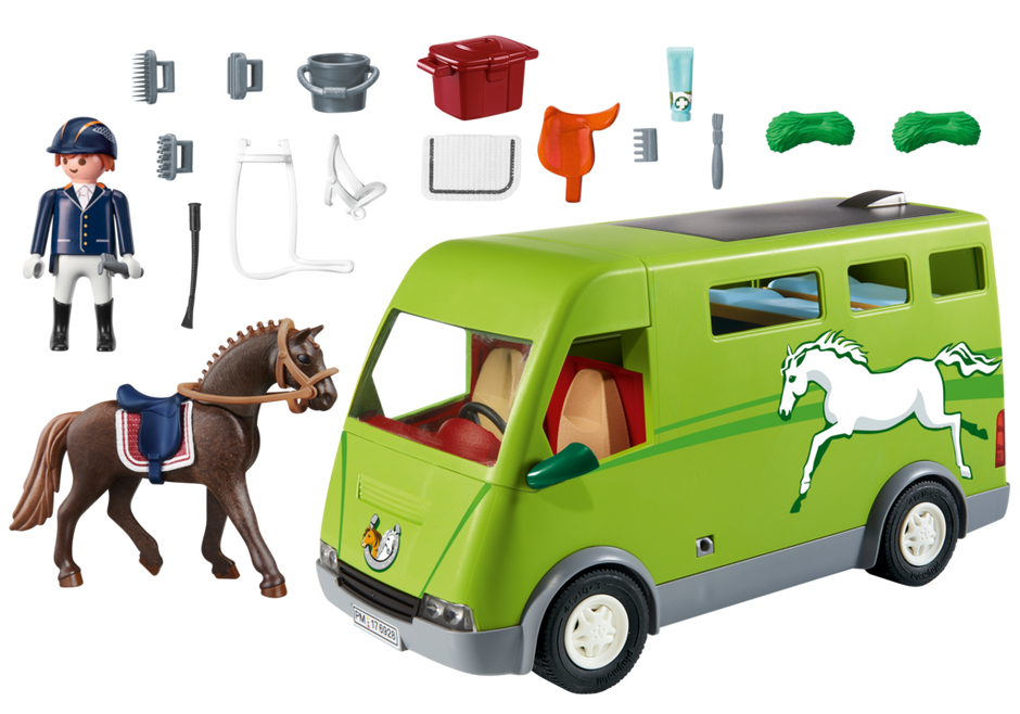 playmobil set 6928 horse transport van klickypedia. Black Bedroom Furniture Sets. Home Design Ideas