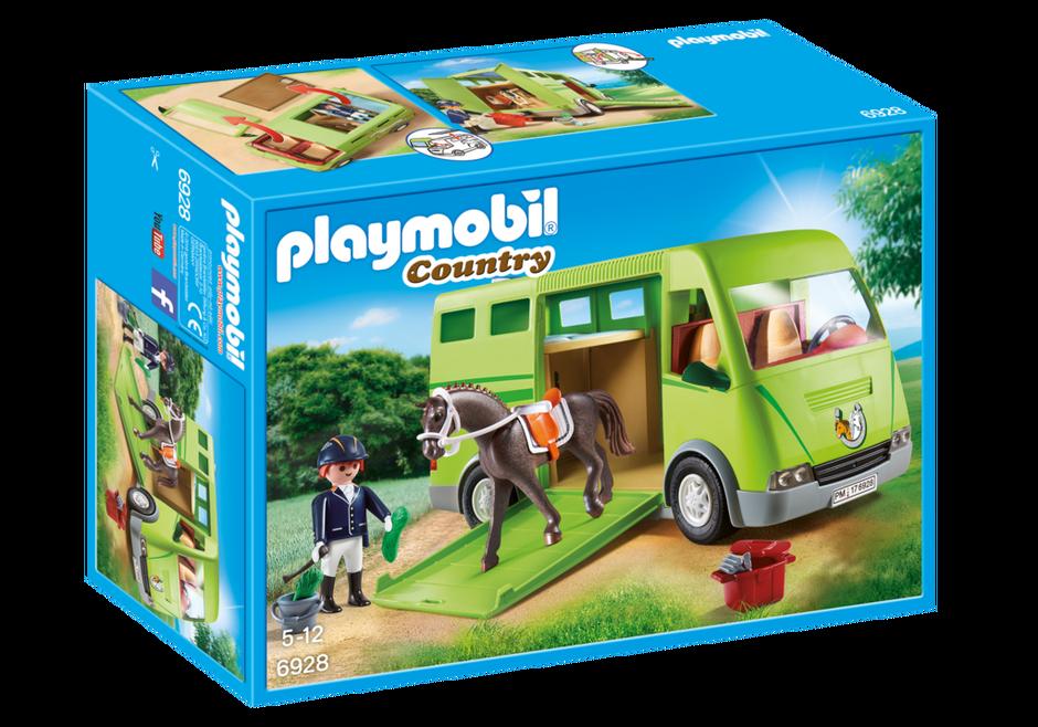 Playmobil set 6928 horse transport van klickypedia for Playmobil pferde set