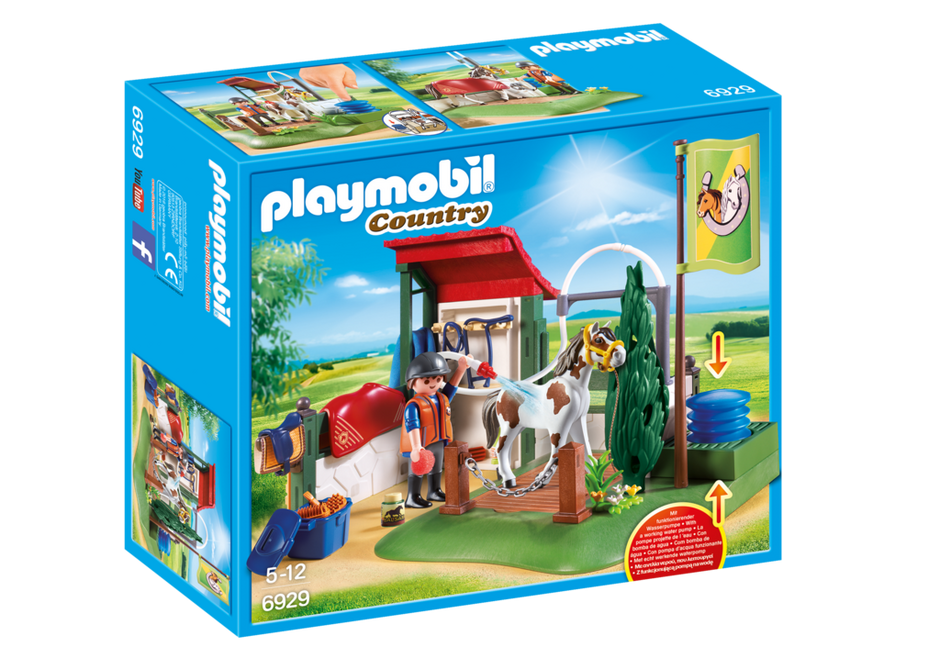 Playmobil set 6929 horse washing area klickypedia - Pferde playmobil ...
