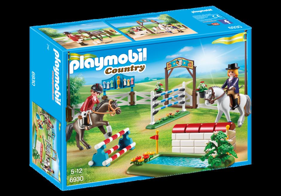 Playmobil set 6930 riding show klickypedia for Playmobil pferde set