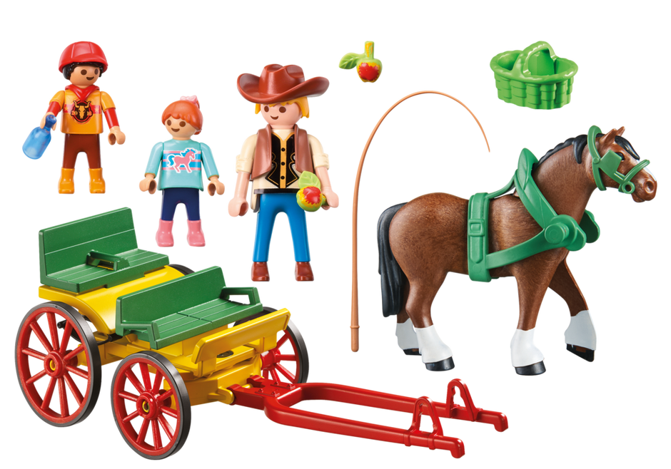 Playmobil 6932 - Horse-drawn wagon - Back