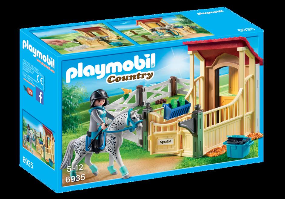 Playmobil set 6935 horsebox appaloosa klickypedia - Pferde playmobil ...