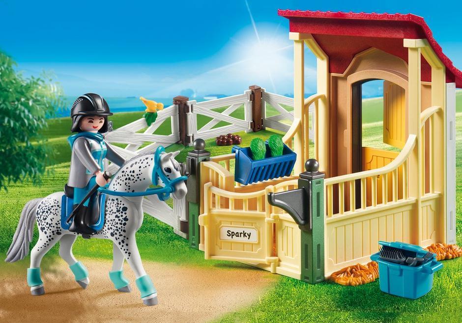 playmobil set 6935 horsebox appaloosa klickypedia. Black Bedroom Furniture Sets. Home Design Ideas