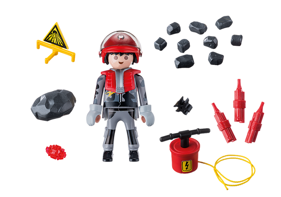 Playmobil 9092 - Rock Blaster with Rubble - Back