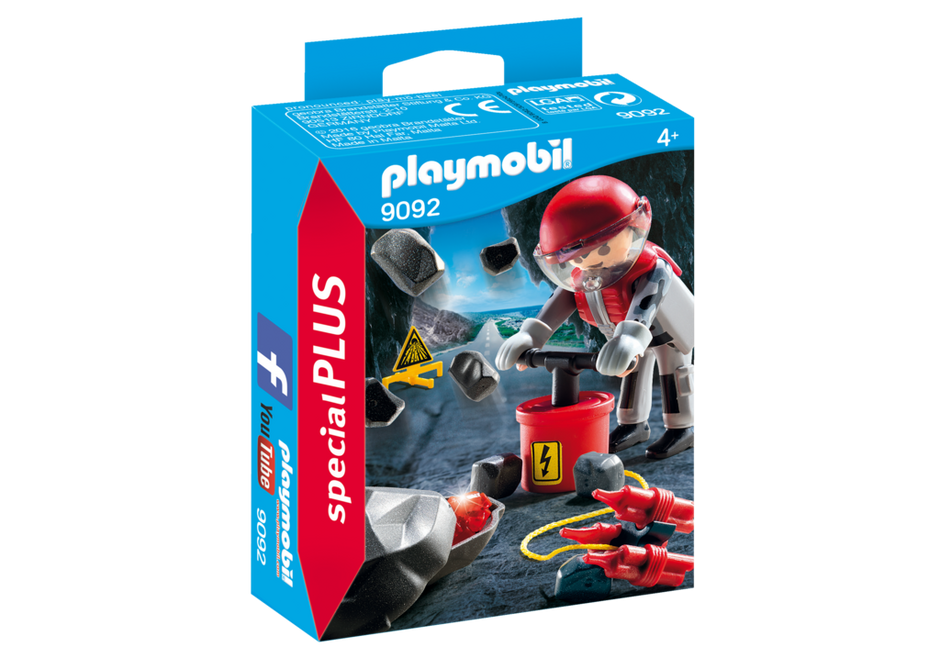 Playmobil 9092 - Rock Blaster with Rubble - Box