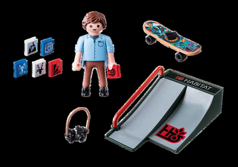 Playmobil 9094 - Skater with ramp - Back
