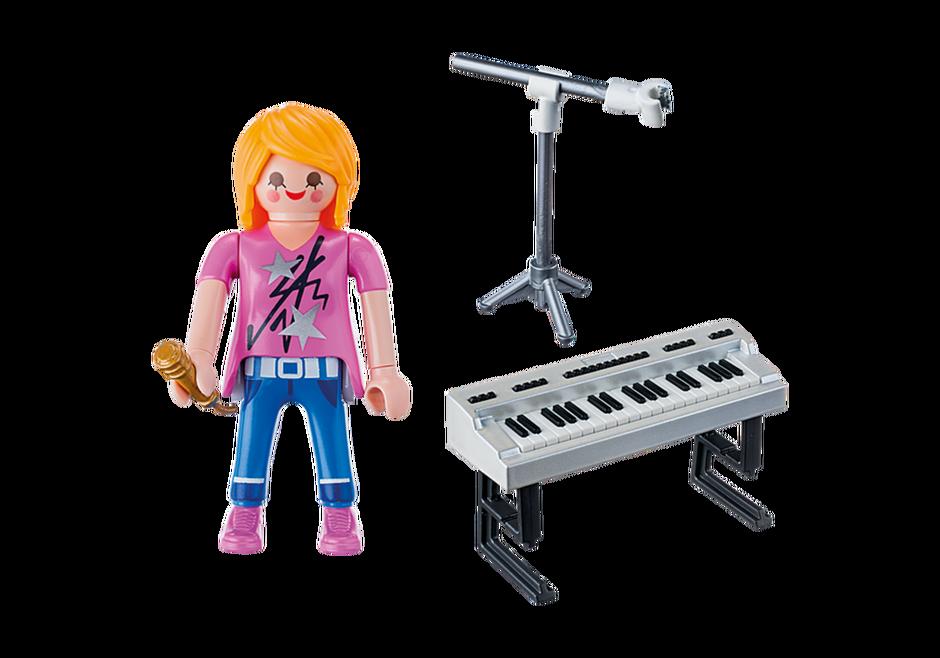 Playmobil 9095 - Singer on the keyboard - Back