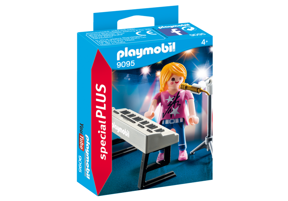 Playmobil 9095 - Singer on the keyboard - Box