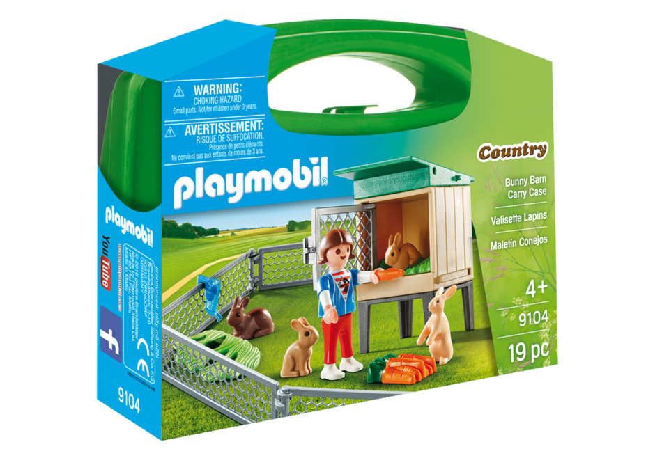 Playmobil 9104-usa - Bunny Barn Carry Case - Box