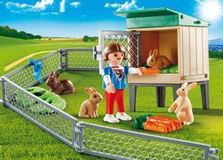 Playmobil - 9104-usa - Bunny Barn Carry Case