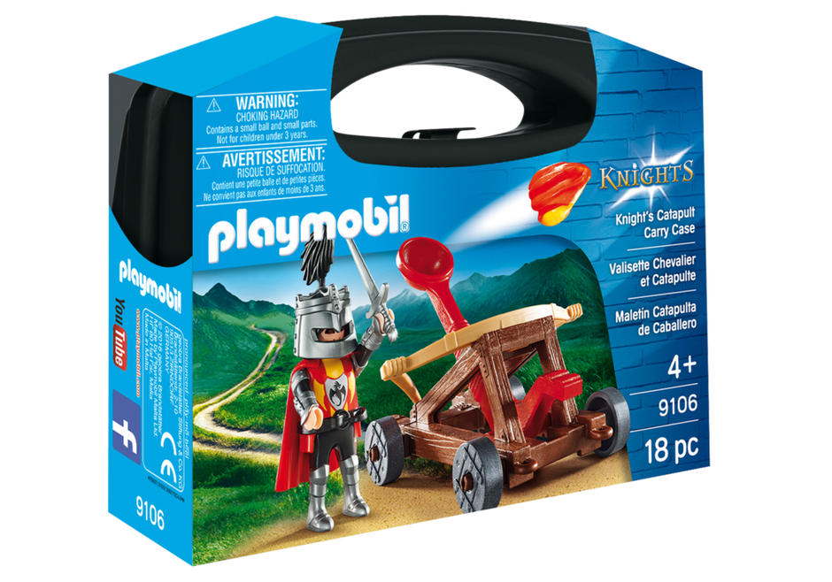 Playmobil 9106-usa - Knight's Catapult Carry Case - Box