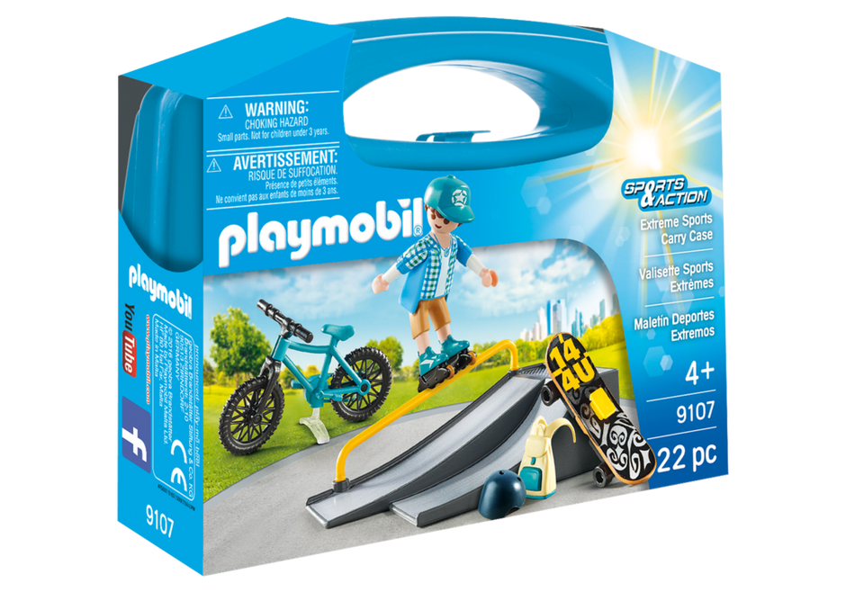Playmobil 9107-usa - Extreme Sports Carry Case - Box