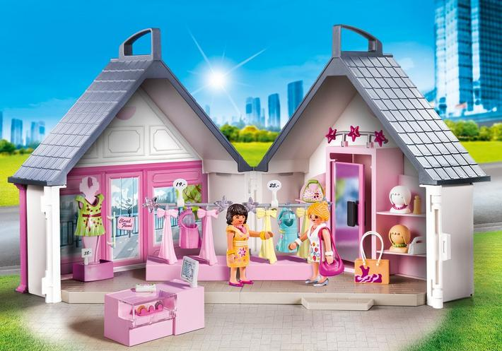 playmobil set 9113 take along fashion store klickypedia. Black Bedroom Furniture Sets. Home Design Ideas
