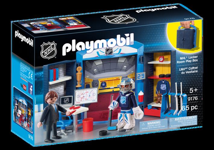 Playmobil 9176-usa - NHL™ Locker Room Play Box - Box