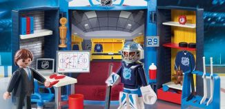 Playmobil - 9176-usa - NHL™ Locker Room Play Box