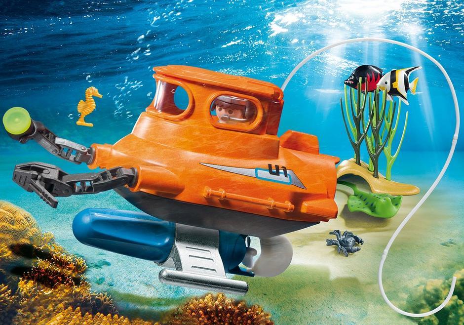 playmobil set 9234 submarine with underwater motor. Black Bedroom Furniture Sets. Home Design Ideas