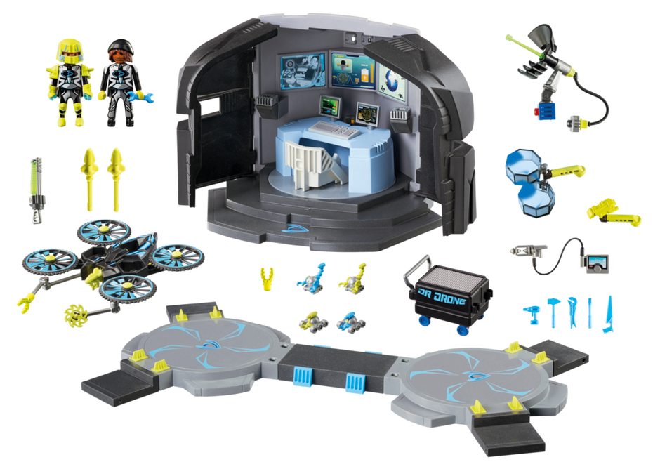 Playmobil 9250 - Dr. Drone's Command Center - Back