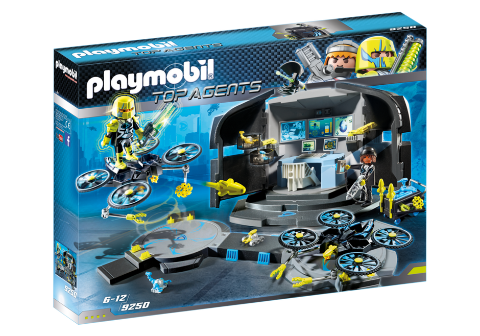 Playmobil 9250 - Dr. Drone's Command Center - Box
