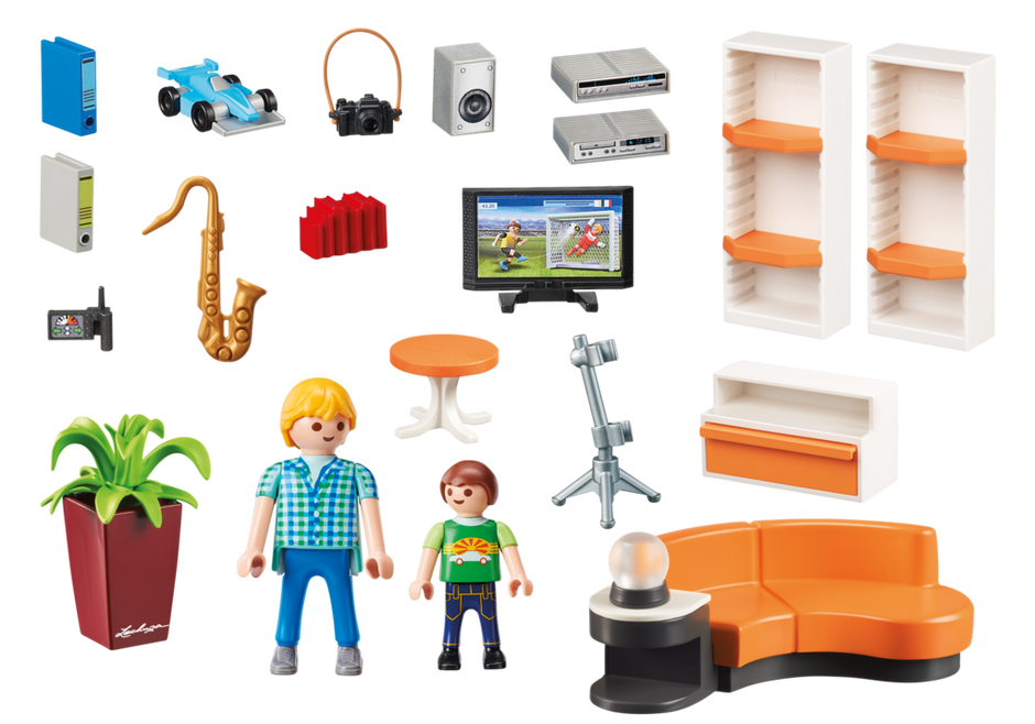 Playmobil set 9267 living room klickypedia for Playmobil modernes haus 9266