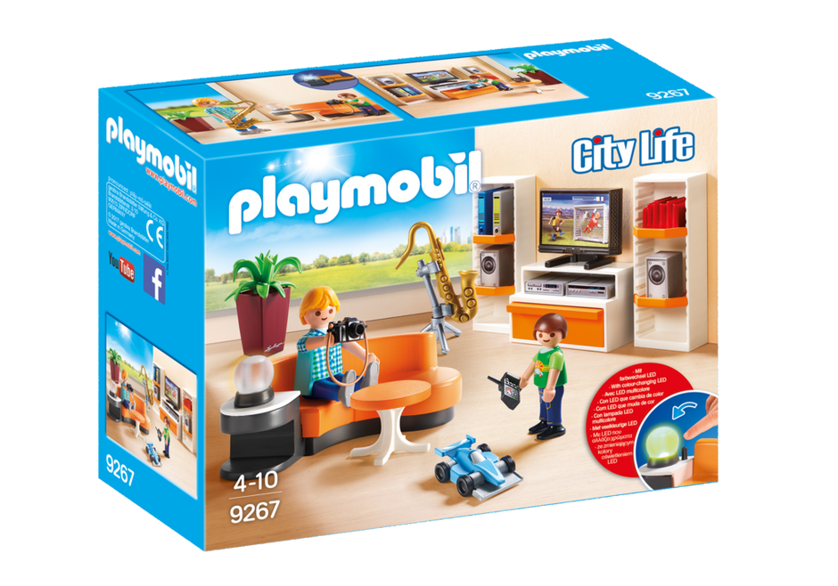 Playmobil set 9267 living room klickypedia for Piscine playmobil